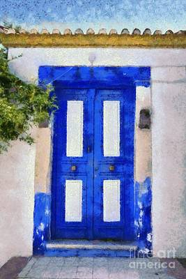 Painting - Old Door In Hydra Island by George Atsametakis
