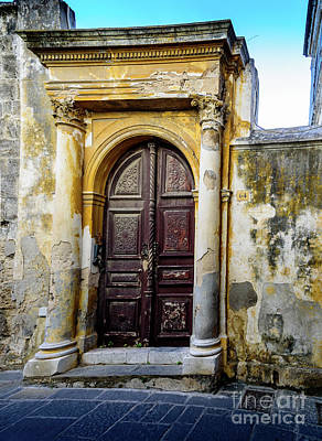 Photograph - Old Door In Rhodes Town, Rhodes, Greece by Global Light Photography - Nicole Leffer