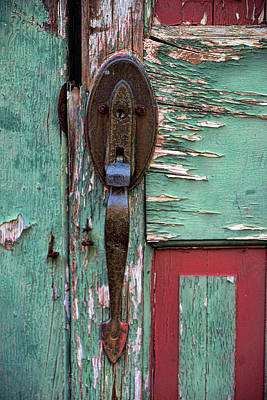 Photograph - Old Door Knob 2 by Joanne Coyle