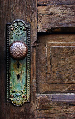 Photograph - Old Door Knob by Joanne Coyle
