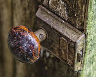 Photograph - Old Door Knob by JRP Photography