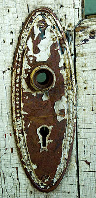 Photograph - Old Door Knob Plate Well Antiqued by Douglas Barnett
