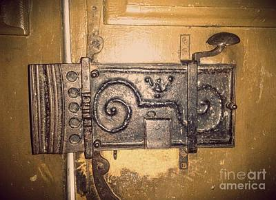Photograph - Old Door Lock by Erika H