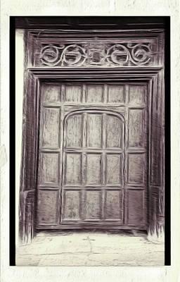 Old Door Painting Art Print by Tom Gowanlock