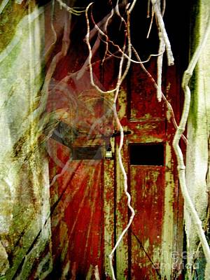 Old Door Set Three Something There Art Print by Kathy Daxon