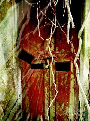Old Door Set Two Haunted Art Print by Kathy Daxon