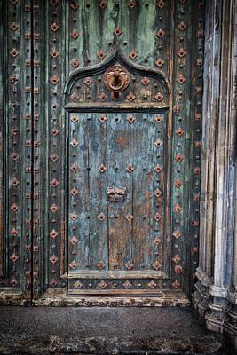 Old Door To Girona Cathedral Art Print by Artur Bogacki