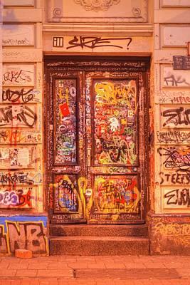 Old Door With Graffiti Art Print by Torsten Krueger