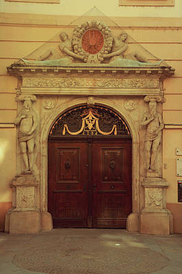Photograph - Old Door. Znojmo. South Moravia by Jenny Rainbow