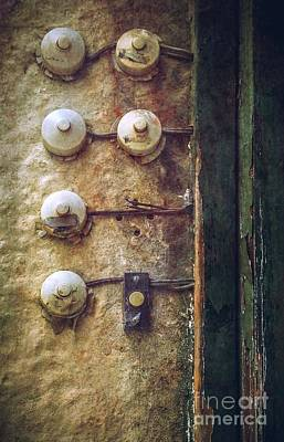 Buzz Photograph - Old Doorbells by Carlos Caetano