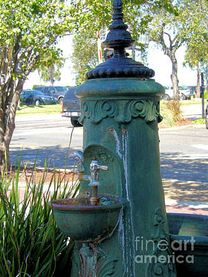 Old Drinking Fountain Art Print by Barbara Oberholtzer