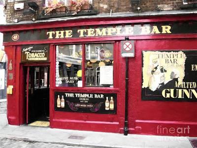 Photograph - Old Dublin Pubs by Mel Steinhauer