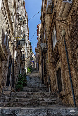 Photograph - Old Dubrovnik Street, Croatia by Elenarts - Elena Duvernay photo