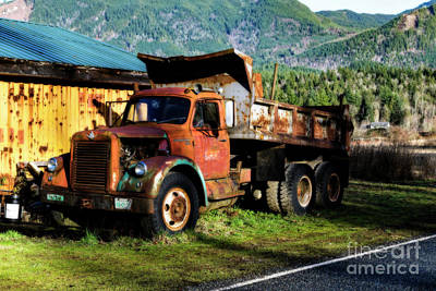 Digital Art - Old Dumper by Jim Hatch