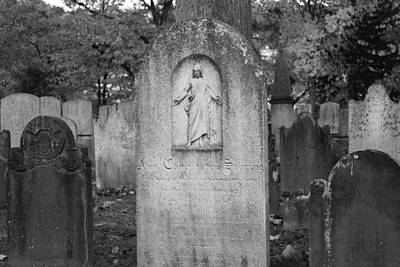 Photograph - Old Dutch Cemetery Tombstones by Colleen Kammerer