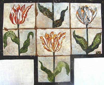 Old Dutch Tiles Original by Lynda K Boardman