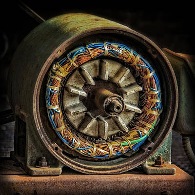 Photograph - Old Electric Motor by Phil Cardamone