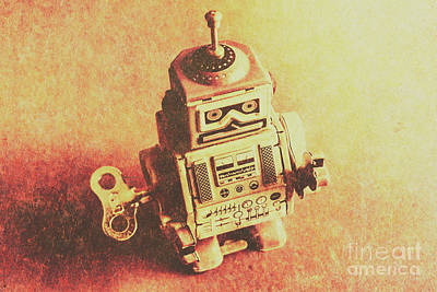 Old Electric Robot Art Print