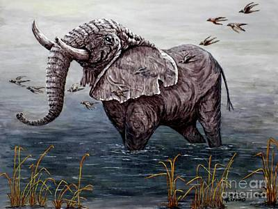 Old Elephant Art Print