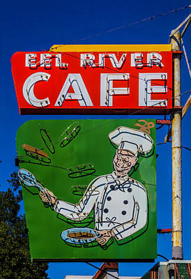Photograph - Old Ell River Cafe Sign by Garry Gay