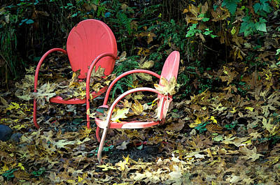 Photograph - Old Empty Chairs by Gwyn Newcombe