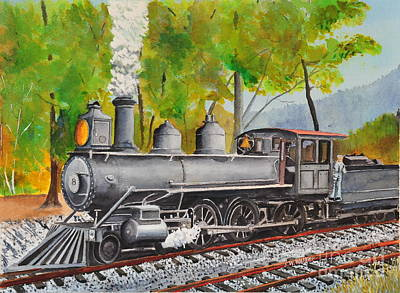 Painting - Old Engine 8 by John W Walker