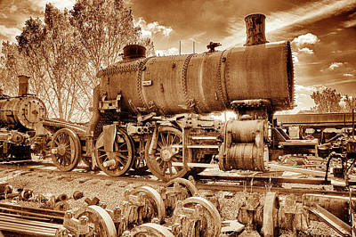 Photograph - Old Engine Graveyard by Paul W Faust - Impressions of Light
