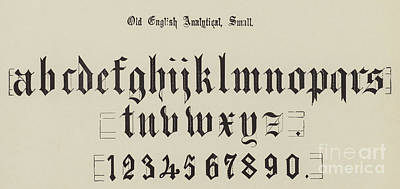 Typography Drawing - Old English Analytical, Small by English School