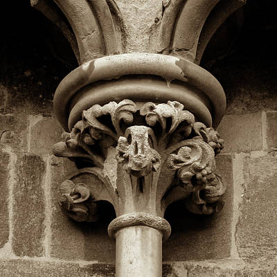 Photograph - Old English Gothic Column Capital A by Jacek Wojnarowski