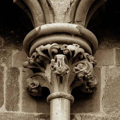 Photograph - Old English Gothic Column Capital A by Jacek Wojnarowski