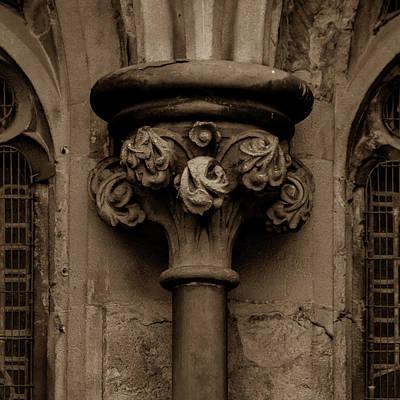 Photograph - Old English Gothic Column Capital B by Jacek Wojnarowski