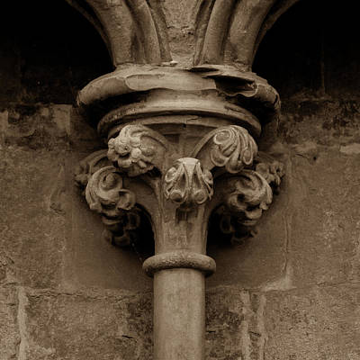 Photograph - Old English Gothic Column Capital C by Jacek Wojnarowski