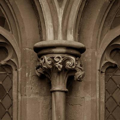 Photograph - Old English Gothic Column Capital D by Jacek Wojnarowski