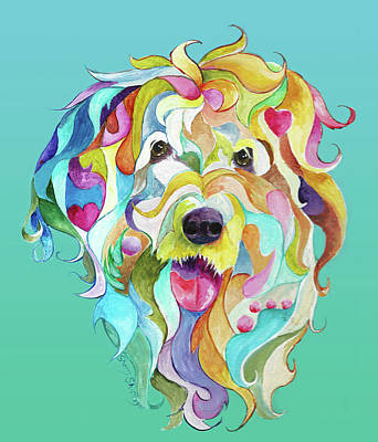 Painting - Old English Sheepdog by Sherry Shipley