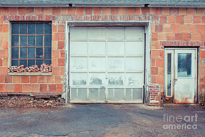 Photograph - Old Factory Doors And Windows Newport New Hampshire by Edward Fielding