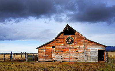 Animal Watercolors Juan Bosco - Old Faded Barn by Buddy Mays