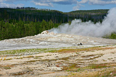 Old Faithful - An American Icon In Yellowstone National Park Wy Art Print by Christine Till