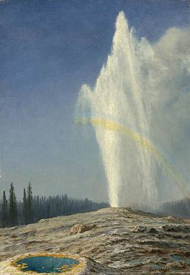 Red Painting - Old  Faithful by Celestial Images