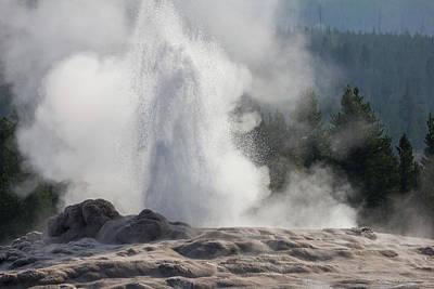 Photograph - Old Faithful Awakens by Penny Meyers