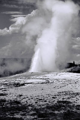 Photograph - Old Faithful Black And White by Dan Sproul