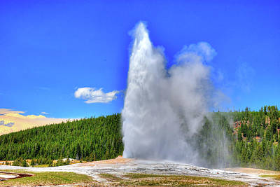 Photograph - Old Faithful Geyser 2 by Richard J Cassato