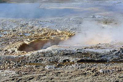 Photograph - Old Faithful Geyser Basin by Harvey Barrison