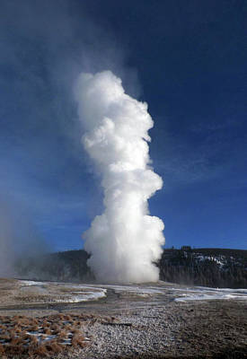 Photograph - Old Faithful In Winter 2 by C Sitton