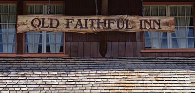 Photograph - Old Faithful Inn by Dan Sproul