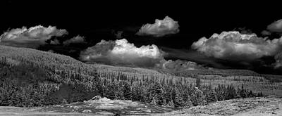 Photograph - Old Faithful Ir  by Brian Duram