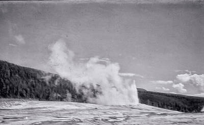 Yellowstone Digital Art - Old Faithful Vintage 6 by Cathy Anderson