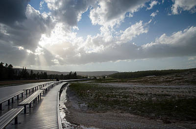 Photograph - Old Faithful Walkway by Crystal Wightman