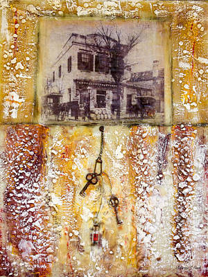 Grocery Store Mixed Media - Old Family Store Charleston Sc Encaustic by Bellesouth Studio