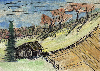 Mixed Media - The Old Shed by R Kyllo