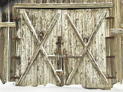 Old Farm Doors Art Print by Anthony Djordjevic